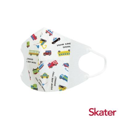 【任】Skater兒童立體口罩-活力車車(10入/包)