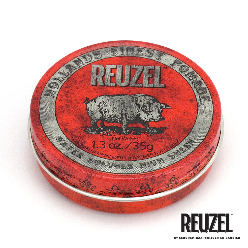 REUZEL Red Pomade紅豬中強水性髮油35g