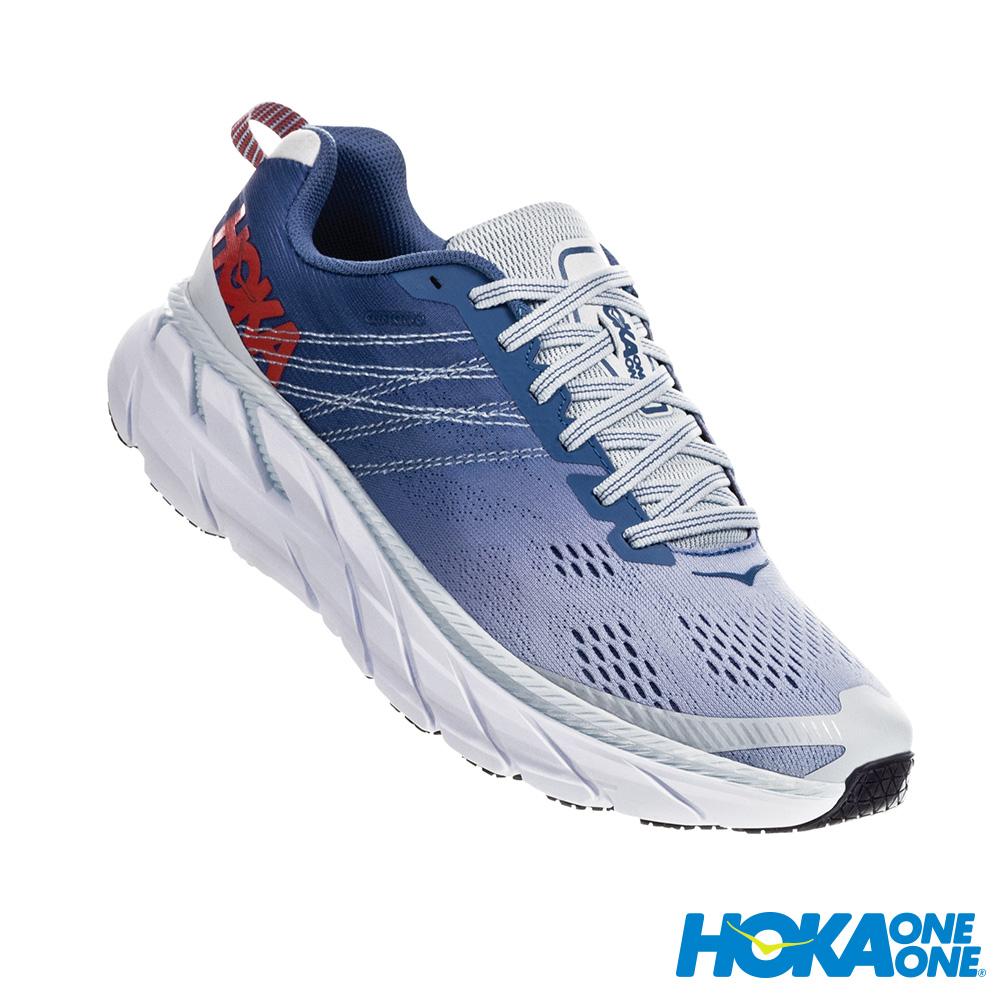 HOKA ONE ONE 女 Clifton 6 寬楦 路跑鞋 月光藍