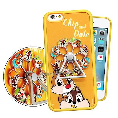 迪士尼 iPhone 6s Plus/6 Plus 摩天輪指環扣防滑支架手機殼(奇奇蒂蒂)