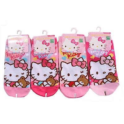 Hello kitty直版襪(三雙一組) k50987 魔法Baby