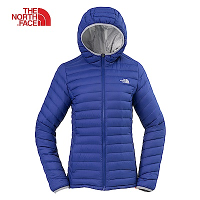 The North Face北面女款藍色防潑水羽絨外套 3KTM7GG