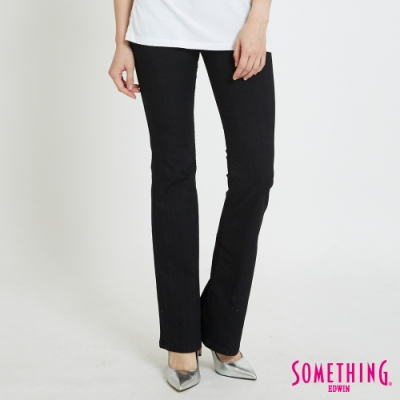 SOMETHING NEO五袋靴型褲 -女- 黑色