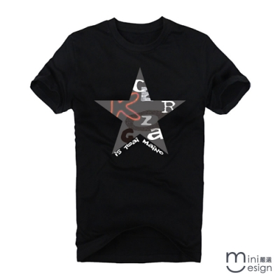 (男款)字母星星潮流短T 三色-Minidesign