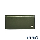 PEPPER'S Raven 牛皮薄長夾 - 橄欖綠