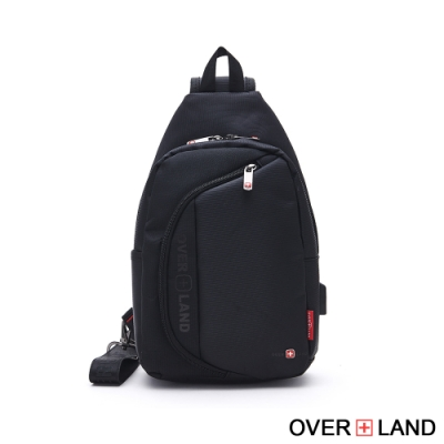 OVERLAND - 美式十字軍 - 圓弧造型輕量單肩胸包 - 5209
