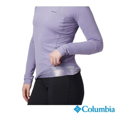 Columbia 哥倫比亞 女款- Omni-HEAT保暖快排內著上衣-紫色