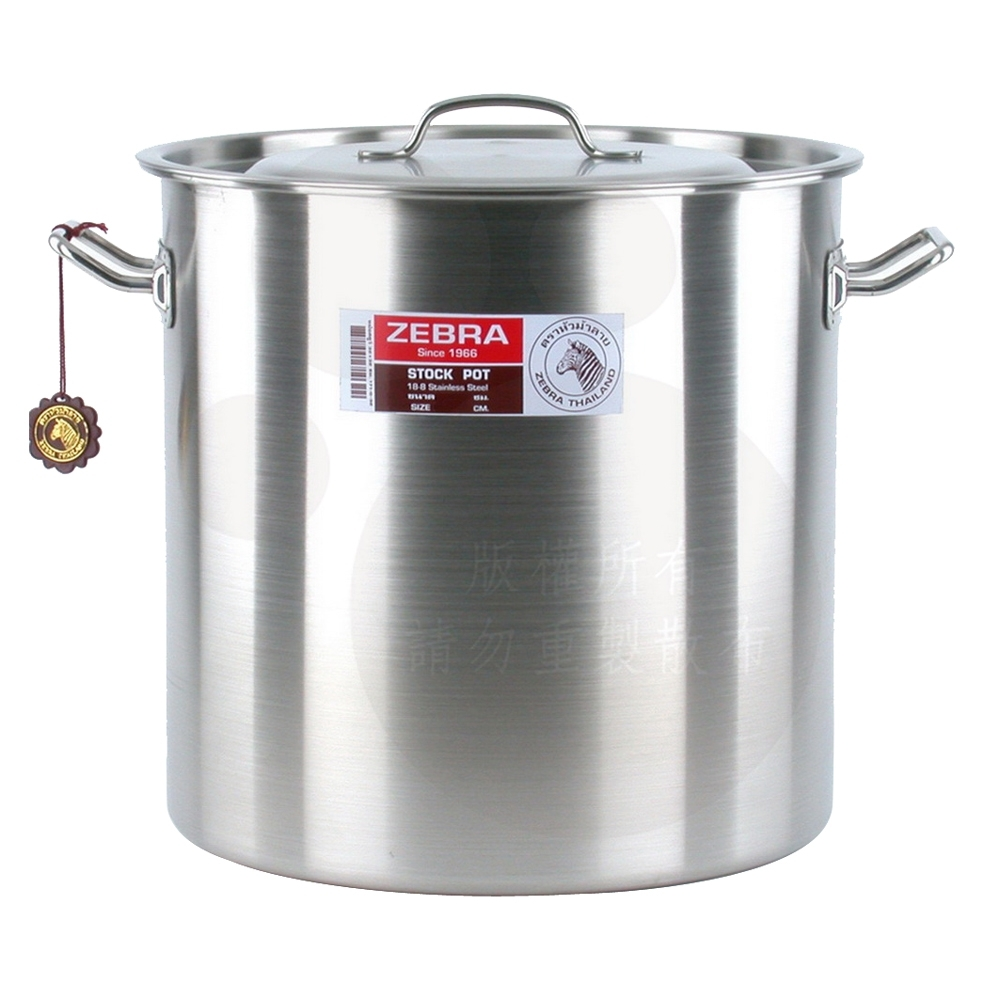 ZEBRA斑馬40公分不鏽鋼深型滷桶/湯鍋(40x40cm/50.2L)