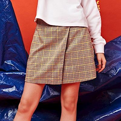 CACO-格紋棉質短裙-女【RST036】
