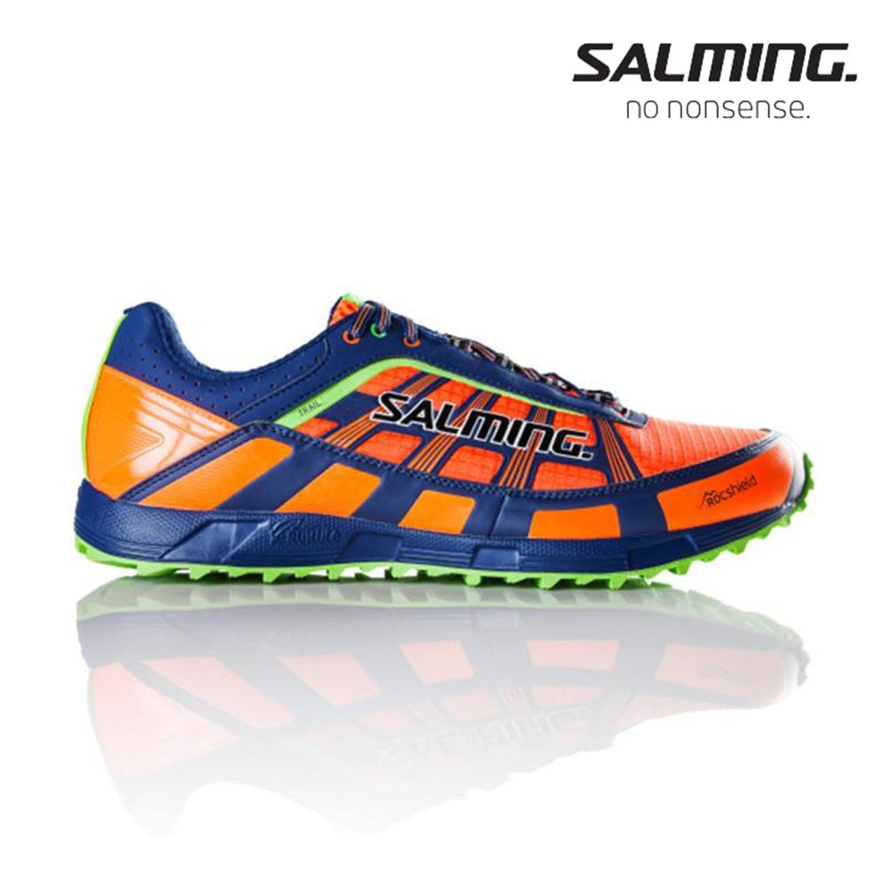 Salming TRAIL T3 寬楦 男戶外野跑鞋 橘藍
