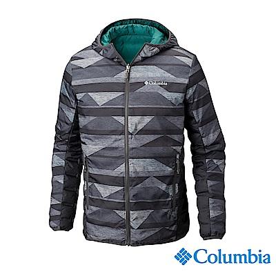 Columbia哥倫比亞 男款- 雙面穿羽絨連帽外套-深灰 UWE12630DY
