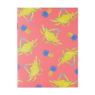 7321 Design BBH街頭塗鴉條紋筆記本S-鳳梨螃蟹