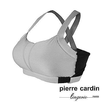 Pierre Cardin皮爾卡登 美背吸濕排汗無鋼圈運動內衣(GRY-灰)