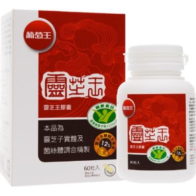 葡萄王 認證靈芝60粒X9瓶 共540粒(國家調節免疫力健康食品認證靈芝多醣12百分比)