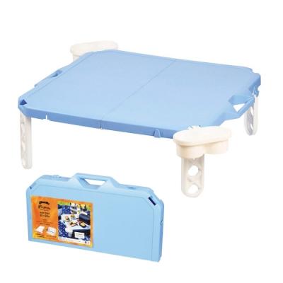 【Pearl】摺疊野餐桌_天空藍 D-6361