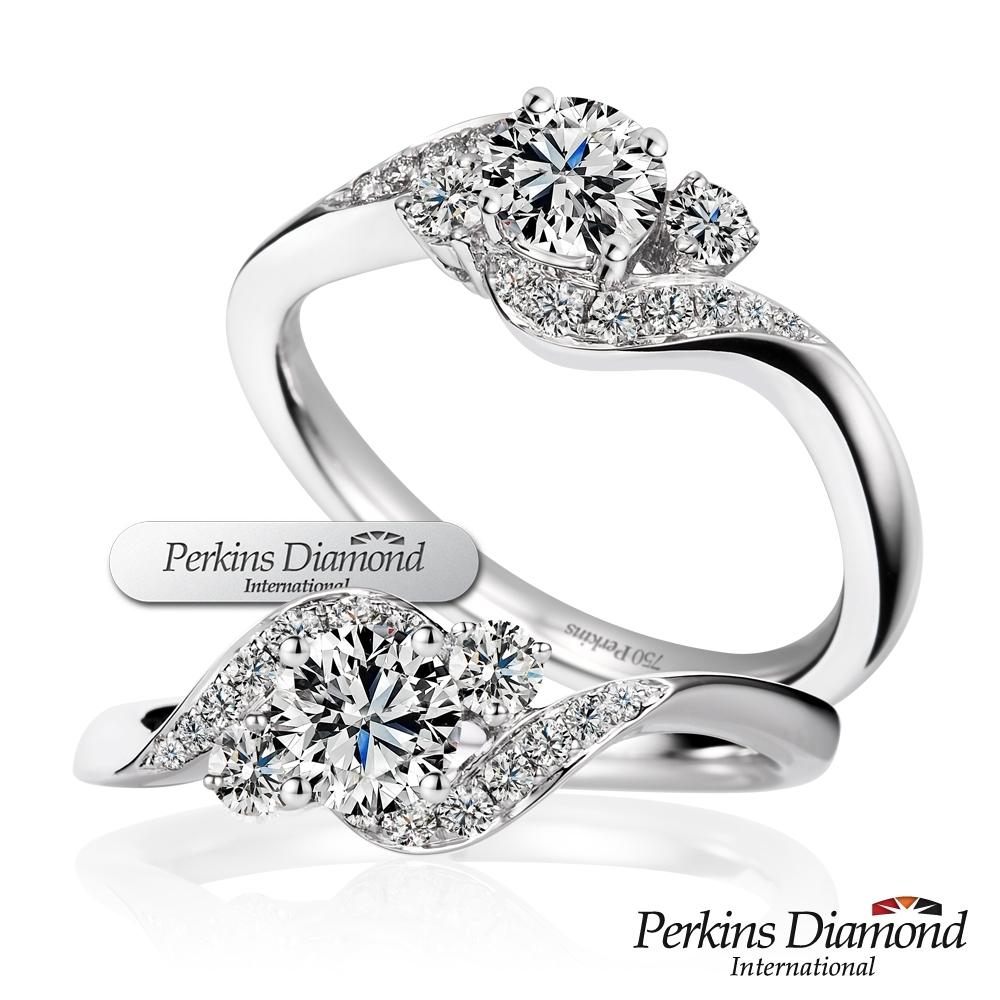 PERKINS 伯金仕-GIA Queen系列 D/VS2 0.30克拉鑽石戒指