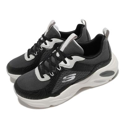 Skechers 慢跑鞋 Stamina Airy 女鞋 異材質拼接 避震 緩衝 穿搭推薦 黑 白 149622BKW