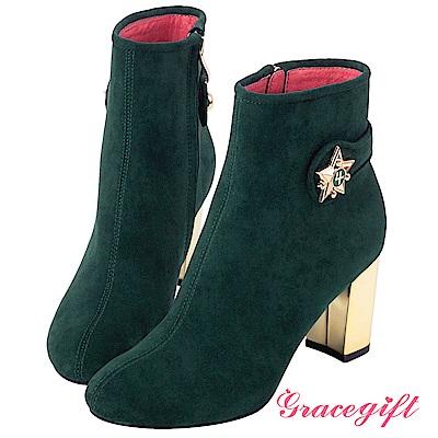 Grace gift-美少女戰士變身器金屬跟短靴 深綠