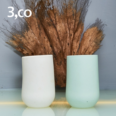 3,co 海洋西施水杯(雙色組) - 白+綠