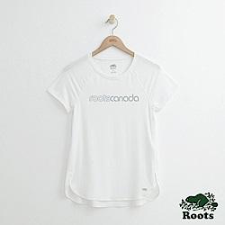 Roots -女裝- 機能面料短袖T恤 - 白