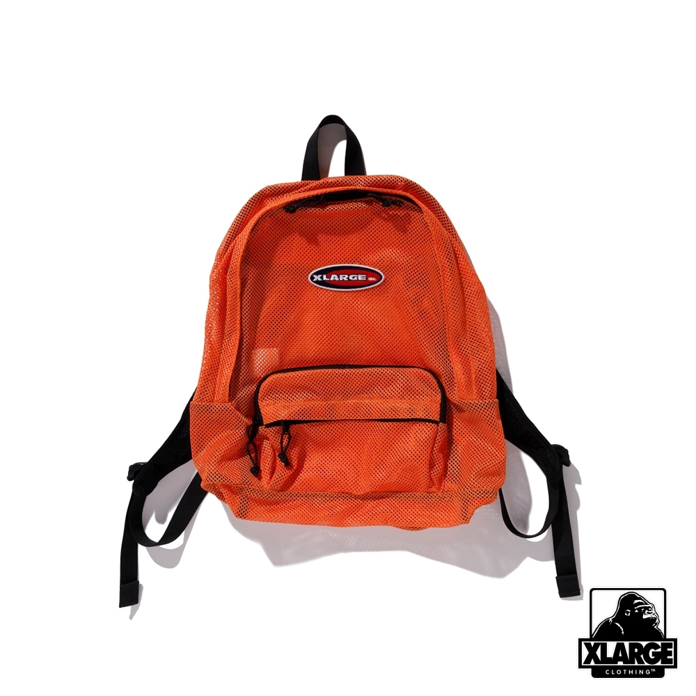 XLARGE PATCHED MESH BACKPACK後背包-橘