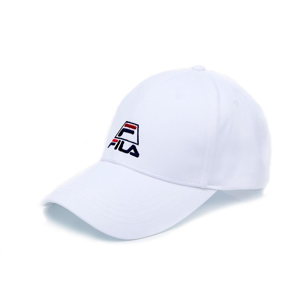 FILA 時尚LOGO帽-白 HTU-5003-WT