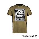 Timberland 男款橄欖綠品牌標識短袖T恤|A1OA2