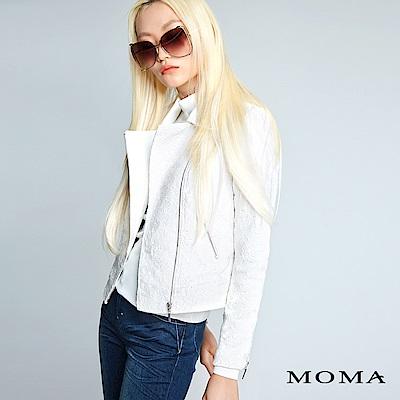 MOMA 蕾絲銀拉鍊騎士風外套