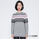 獨身貴族 冬之禮讚混線編織長版針織衫(2色)