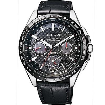 CITIZEN GPS衛星對時F900光動能鈦腕錶(CC9015-03E)-黑/