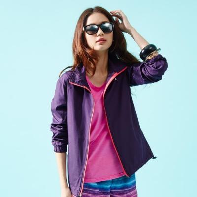 【FIVE UP】經典LOGO抗UV風衣外套-紫色