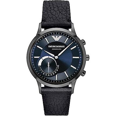 Emporio Armani Connected Hybrid智慧型腕錶-藍x黑