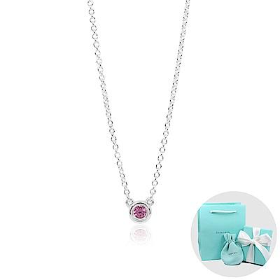 Tiffany&Co. Elsa Peretti 純淨圓形粉紅寶石純銀項鍊