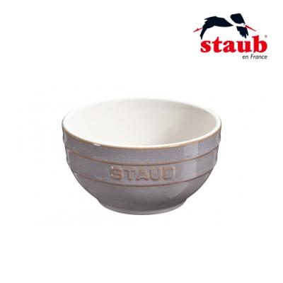 法國Staub 圓型陶瓷碗 12cm 復古灰