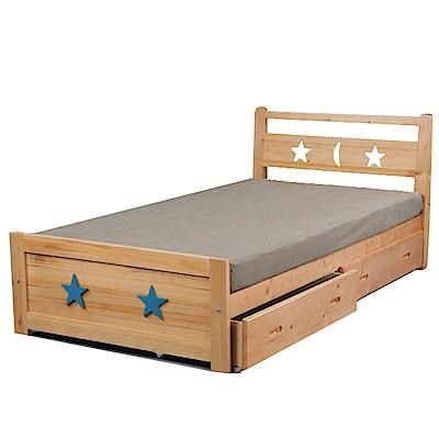 綠活居 特洛伊3.5尺單人抽屜床台(二抽床底+不含床墊)-105x195x81cm-免組