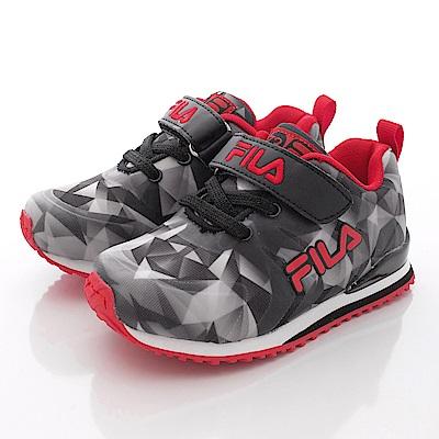 FILA頂級童鞋款 鑽石割紋款 EI32Q002黑紅(中大童段)0