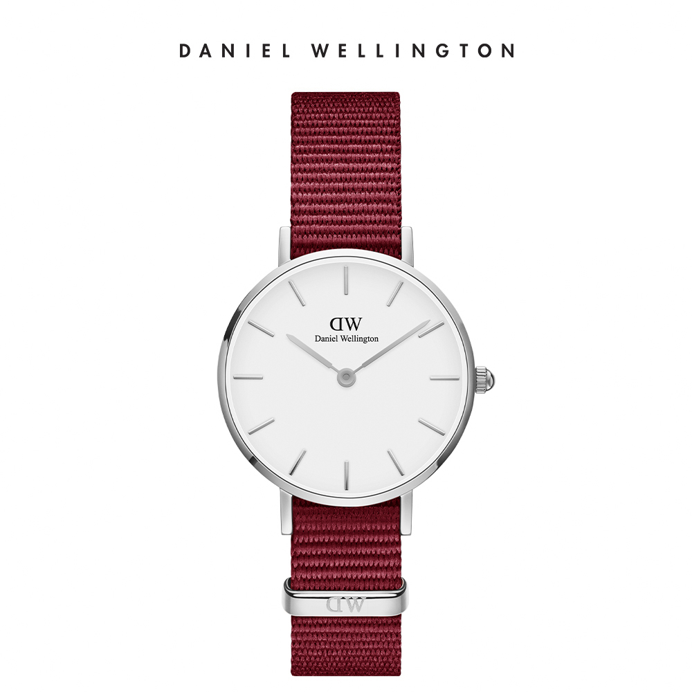 【Daniel Wellington】官方直營 Petite Roselyn 28mm玫瑰紅織紋錶 DW手錶