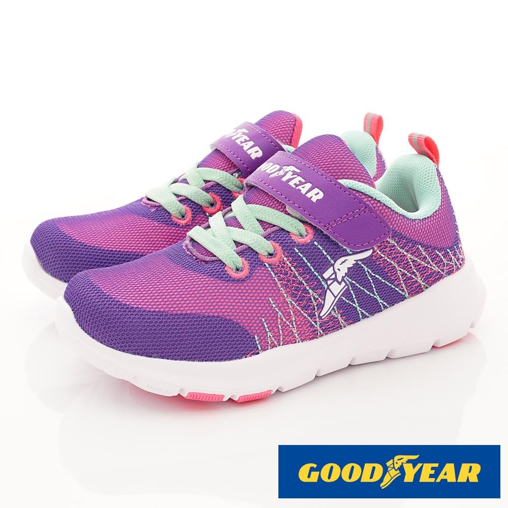 GOODYEAR戶外童鞋 Q彈減壓運動鞋 EI8437紫(中大童段)