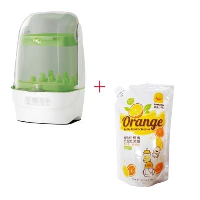 nac nac 觸控式消毒烘乾鍋T1+黃色小鴨 奶瓶洗潔劑補充包800ML*1入