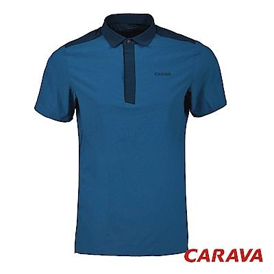 CARAVA《男款氣冷式涼爽POLO衫》(灰藍)