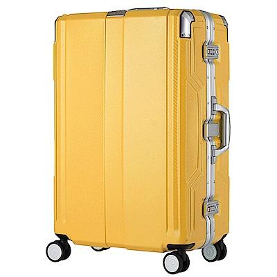 日本LEGEND WALKER 6720-68-28吋 發光圓環把手行李箱 亞洲黃