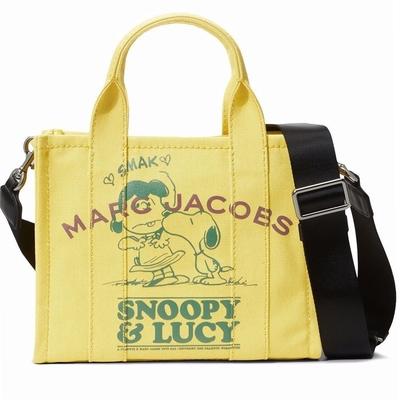 MARC JACOBS 史奴比聯名 THE TRAVELER TOTE 帆布兩用托特包(迷你款/鮮黃色)