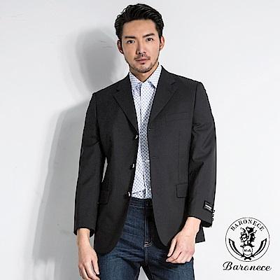 BARONECE 型男三釦劍領西裝_黑色(64305-11)