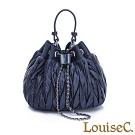 LouiseC. 空氣感兩用鏈帶水桶包-寶石藍 WL7888-09