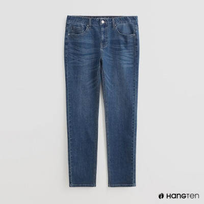 Hang Ten - 男裝 - 波浪刷色牛仔褲 - 藍