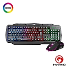 【MARVO魔蠍】KM407 RGB彩虹混光 電競鍵盤滑鼠組-中文注音版