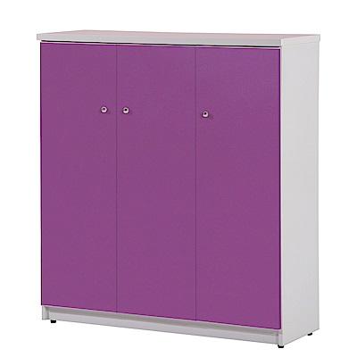 文創集 蘿倫環保3.2尺塑鋼三門鞋櫃(10色)-96x36.5x106cm-免組