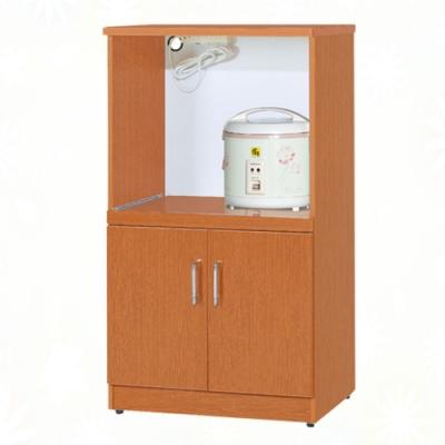 文創集 泰亞 環保2.1尺南亞塑鋼二門層架中餐櫃/收納櫃-63.4x42.8x112cm免組