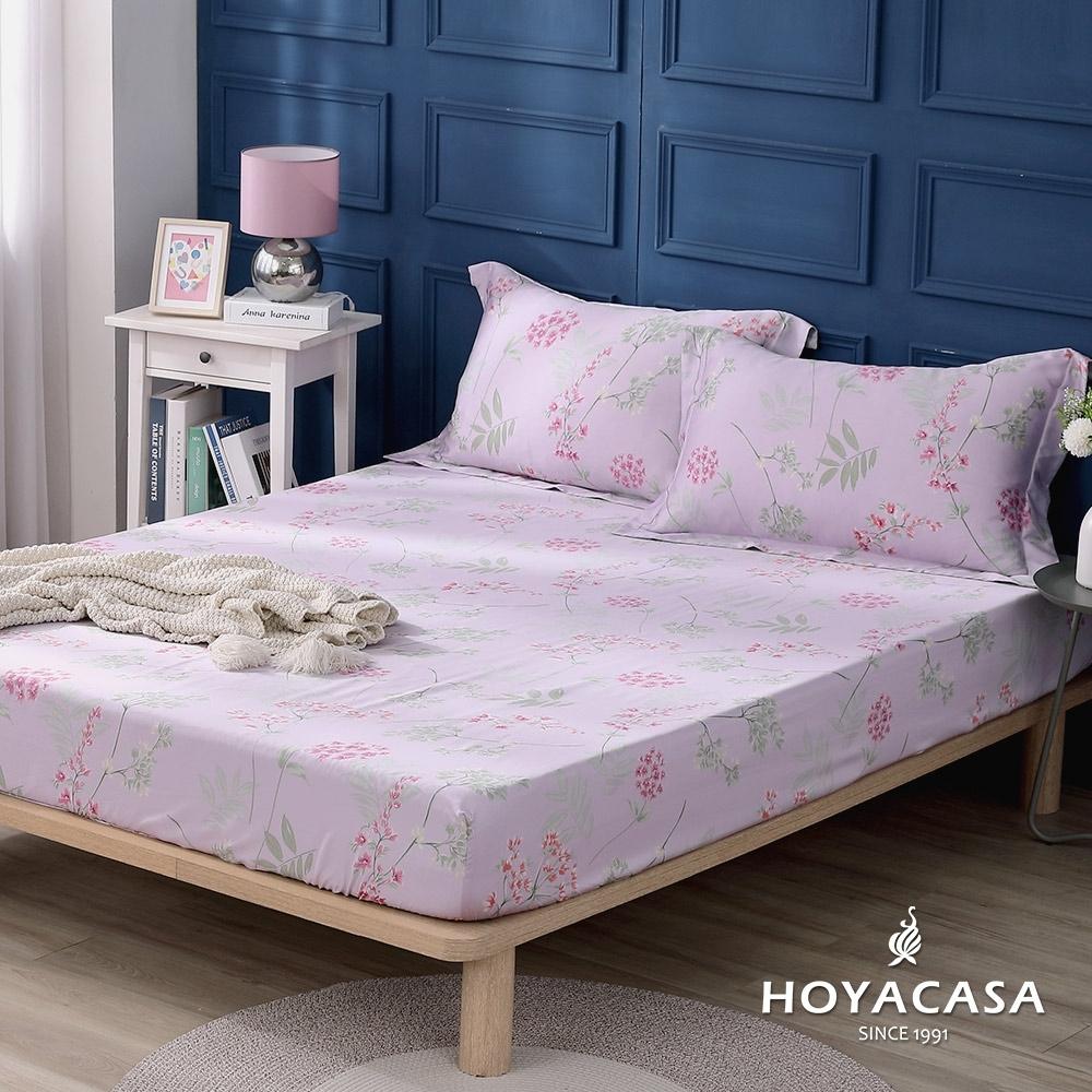 【HOYACASA 】100%天絲枕套床包三件組-漫庭芳草(雙人)