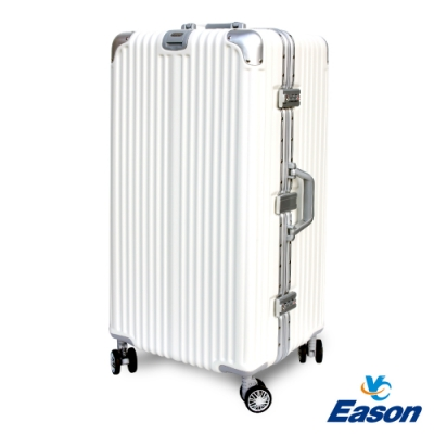 YC Eason 30吋運動鋁框避震行李箱胖胖箱 白色